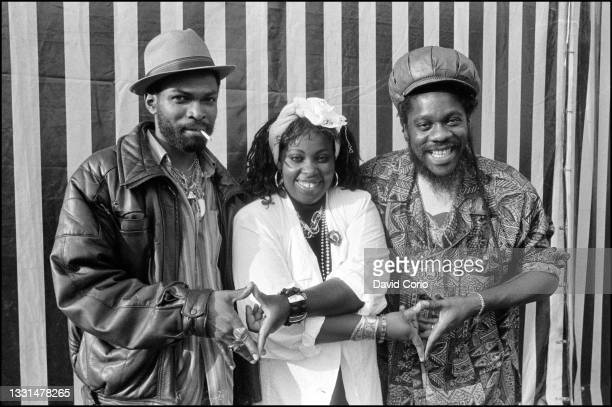 Nitty Gritty, Ruby Turner and Dennis Brown backstage at Finsbury Park, London 20 July 1986.
