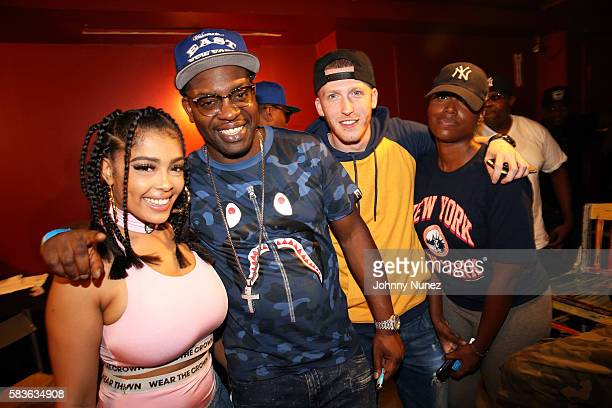 Nitty Scott Uncle Murda DrewSki and Scottie Beam attend Who's Next With DJ Enuff at SOB's on July 26 2016 in New York City