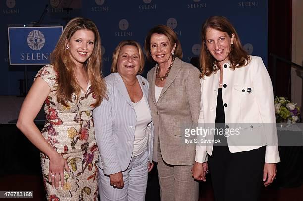 Nitzia Logothetis Ileana RosLehtinen Nancy Pelosi and Sylvia Burwell attend Seleni Institute's First Annual Winnifred Mason Huck Leadership Awards at...
