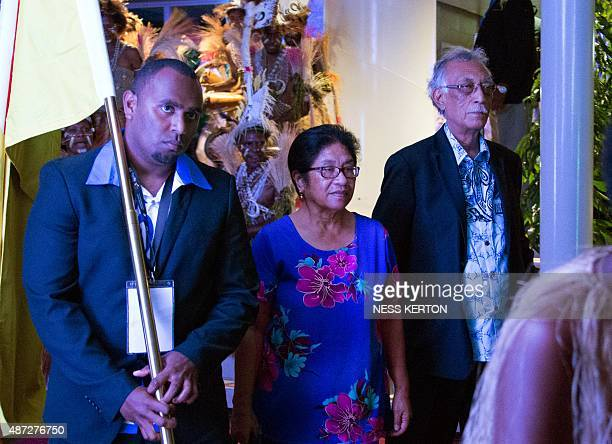 Niue Premier Toke Talagi arrives for the official opening of the 46th Pacific Islands Forum in Port Moresby on September 8 2015 The 16nation grouping...