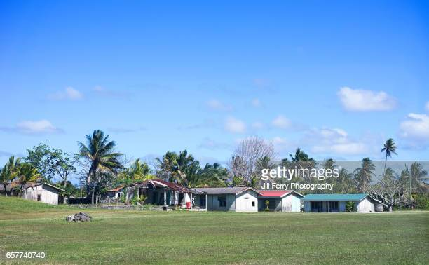 niue village - niue island stock photos and pictures