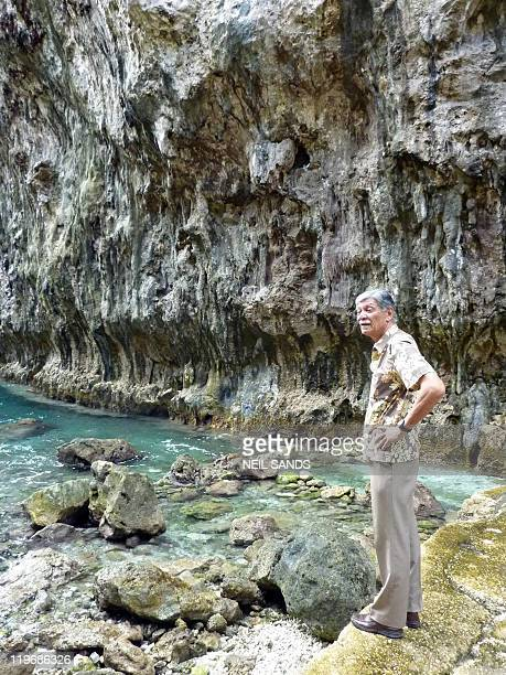 STORY 'NiuePacificpopulationtourismeconomyFEATURE' by Neil Sands This photo taken on July 16 2011 shows Hima Douglas chairman of the Niue Tourism...