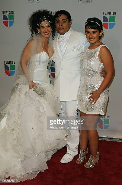 Niurka Marcos Eduardo Antonio and Marcos' daughter Romina arrive at Univisions 2010 Premio Lo Nuestro a La Musica Latina Awards at American Airlines...