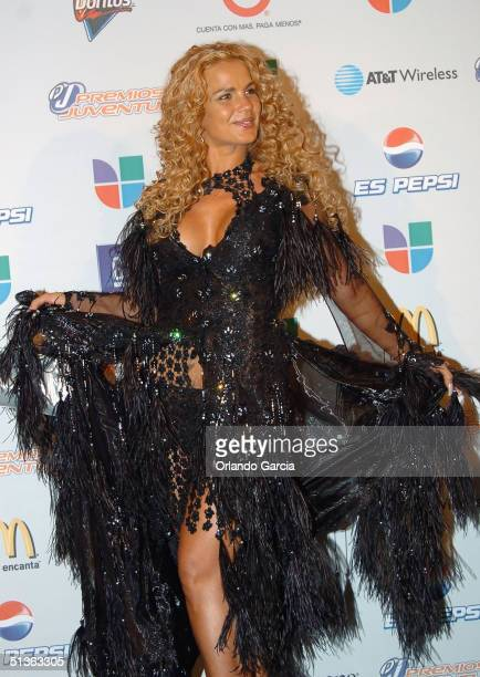 Niurka Marcos poses backstage at the the 1st Annual Premios Juventud Awards at the James L Knight Center September 23 2004 in Miami Florida Premios...