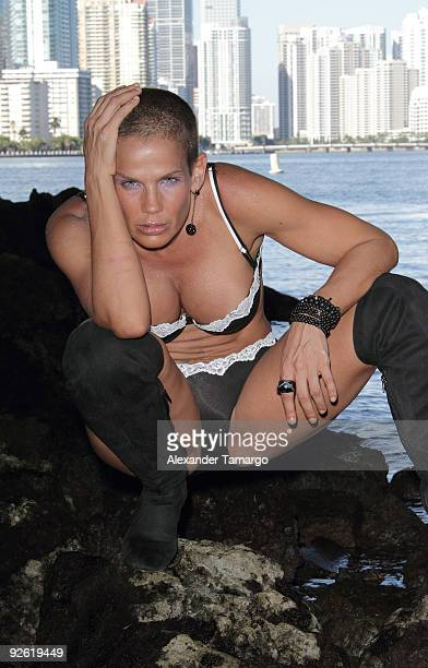 Niurka Marcos poses on the set of the Latin Angels photo shoot on November 2 2009 in Miami Florida