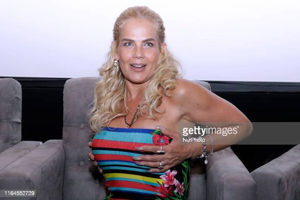 Niurka Marcos speaks during a press conference to promote ' Alma de Angel ' TV Series at Televisa San Angel on August 27 2019 in Mexico City Mexico
