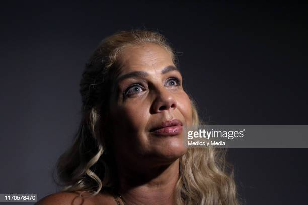 Niurka Marcos speaks to the media during a presentation of the TV show 'Alma de Angel' at Televisa San Angel on August 27 2019 in Mexico City Mexico