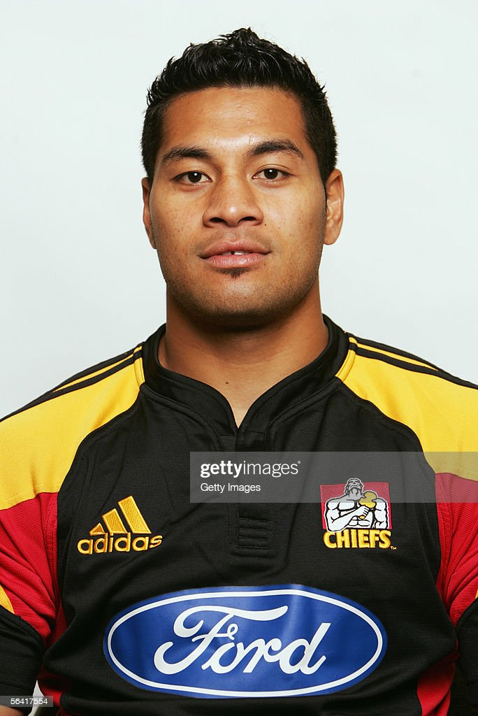 Niva Ta'auso of the Waikato Chiefs poses during a team portrait session December 12, 2005 in Hamilton, New Zealand.