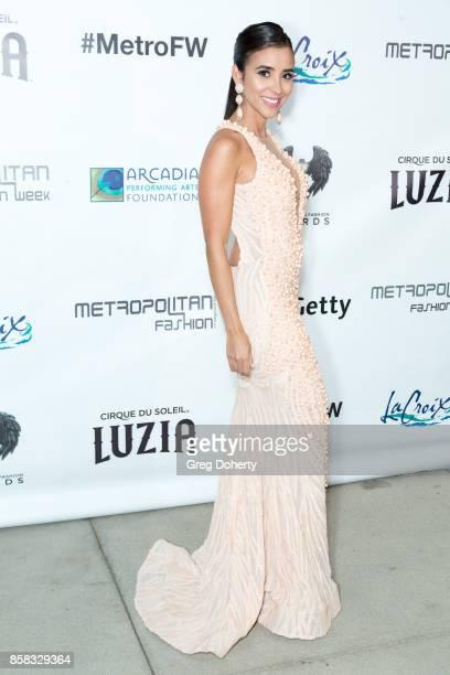 Niveen Heaton attends the Metropolitan Fashion Week Closing Night Gala at Arcadia Performing Arts Center on October 5 2017 in Arcadia California
