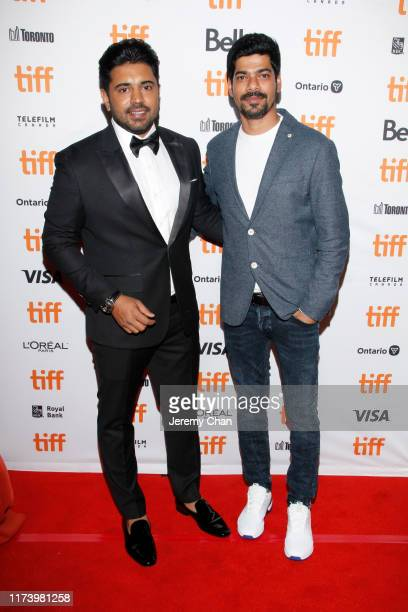 """Nivin Pauly and S. Vinod Kumar attend the """"The Elder One"""" photo call during the 2019 Toronto International Film Festival at Winter Garden Theatre on..."""