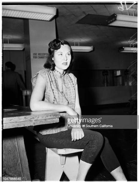 Nixon stabbing, 18 January 1958. Mrs Velda Nixon ;Allan Nixon -- 39 years .;Caption slip reads: 'Photographer: Rustan. Date: . Reporter: Tarpley....