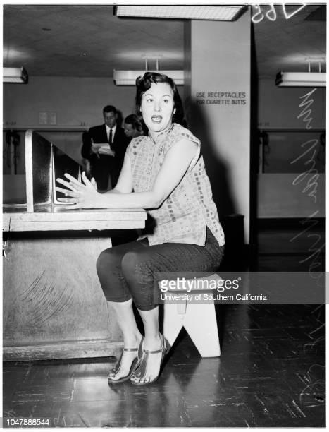 Nixon stabbing, 18 January 1958. Mrs Velda Nixon ;Allan Nixon -- 39 years .;Caption slip reads: 'Photographer: Rustan. Date: . Reporter: Tarpley....