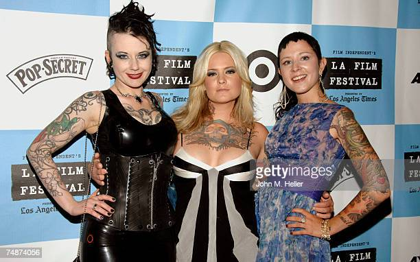 Nixon Suicide Amina Munster and Cricket DeManuel The Suicide Girls attend the Red Carpet LA Premiere of The Wizard Of Gore the Los Angeles Film...
