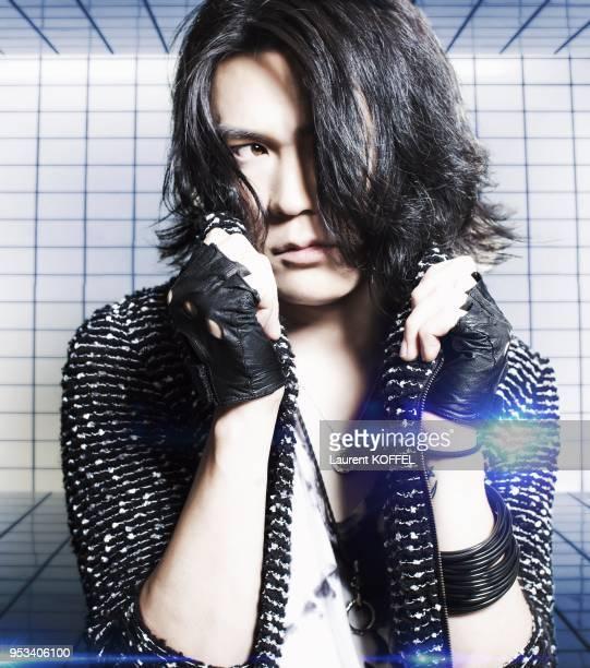 Niya du groupe de musique Japonais Nightmare' pendant 'Japan Expo 2013' Paris France