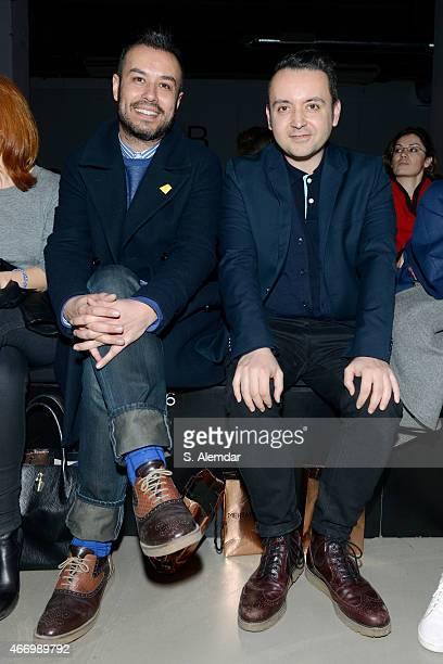 Niyazi Erdogan and Bora Aksu attend the Mehtap Elaidi show during Mercedes Benz Fashion Week Istanbul FW15 on March 19, 2015 in Istanbul, Turkey.