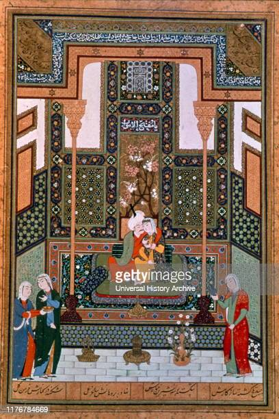 NizamiÕs Khamsah Tabriz Iran The Prophet MuhammadÕs Celestial Journey Created 1539Ð1543 by Nizami Ganjavi Persian poet