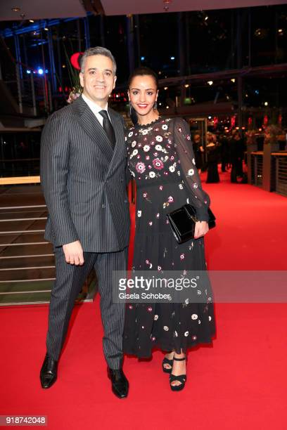 Nizar Maarouf and his wife Sawsan Chebli attend the Opening Ceremony 'Isle of Dogs' premiere during the 68th Berlinale International Film Festival...