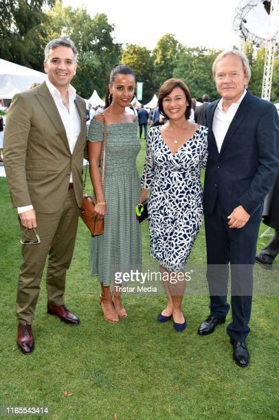 Nizar Maarouf Sawsan Chebli Sandra Maischberger and Jan Kerhart attend the folk festival of German President FrankWalter Steinmeier on August 30 2019...
