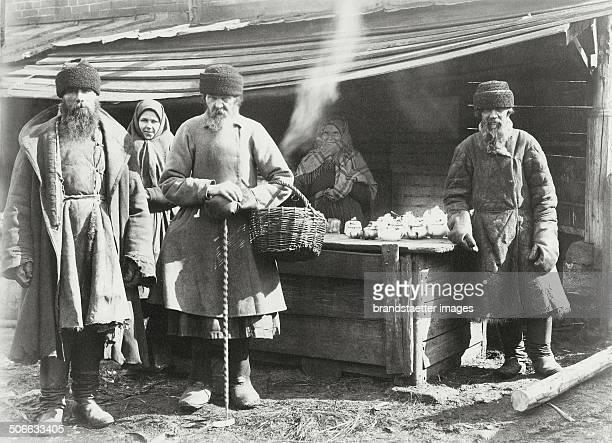 Nizhny Novgorod Rural bazaar with Tea stall Photograph About 1900