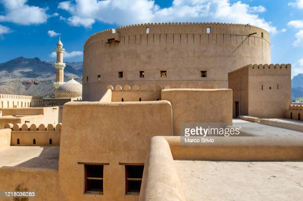 nizwa oman. the fort - marco brivio stock pictures, royalty-free photos & images