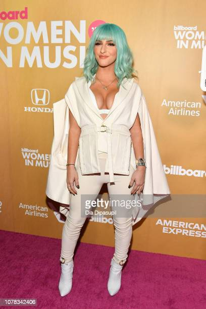 Njomza attends Billboard's 13th Annual Women in Music Event at Pier 36 on December 06 2018 in New York City