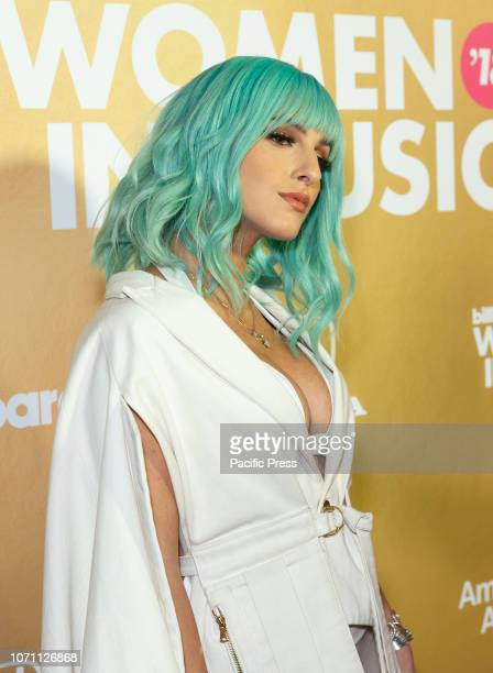 Njomza attends Billboard's 13th Annual Women in Music gala at Pier 36