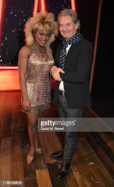 "Nkeki Obi-Melekwe and Erwin Bach attend the 1st birthday gala performance of ""Tina: The Tina Turner Musical"" at The Aldwych Theatre on April 24, 2019..."