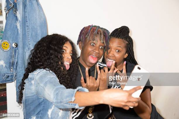 Nkele McNeil Street Bud and Cori attend The Stokey Project Easter Kiddie Disco at Downtown Cultural Arts Center on April 1 2018 in Baltimore Maryland