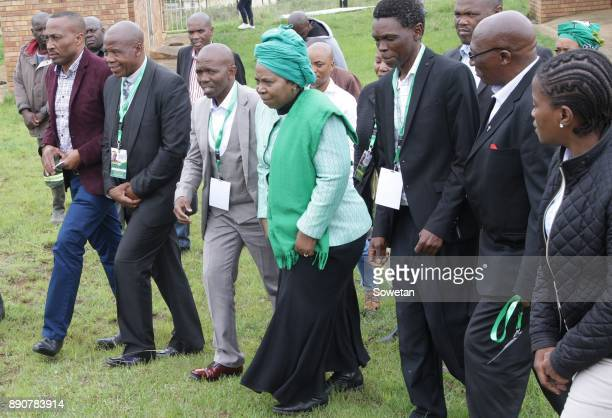 Nkosazana DlaminiZuma is seen with Amakhosi during the prayer party organized by the Dlamini Clan in her home Bulwer on December 10 2017 in...