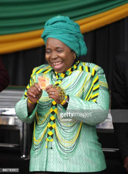 Nkosazana DlaminiZuma reacts during the prayer party organized by the Dlamini Clan in her home Bulwer on December 10 2017 in KwaZuluNatal South...