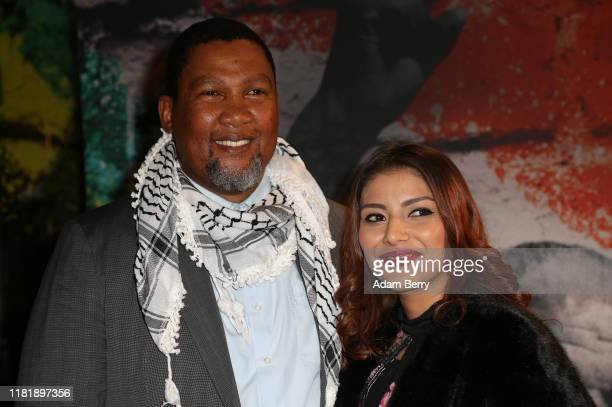 Nkosi Zwelivelile Mandela and his wife Rabia Clarke arrive for the opening of the exhibition Mandela The Official Exhibition at Bikini Berlin...