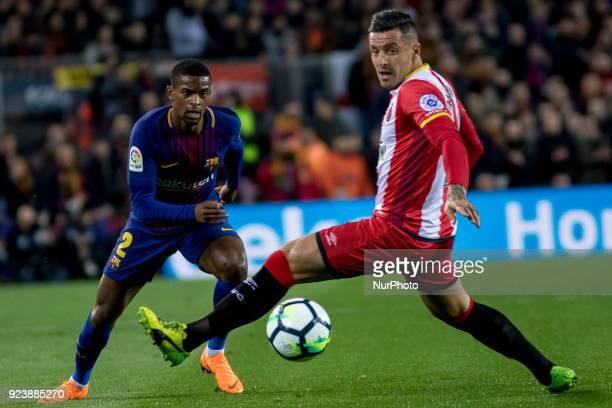 Nélson Semedo during the spanish football league match between FC Barcelona and Girona FC at the Camp Nou Stadium in Barcelona Catalonia Spain on...