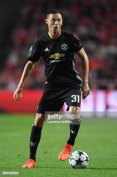Nmanja Matic of Manchester United in action during the UEFA Champions League group A match between SL Benfica and Manchester United at Estadio da Luz...
