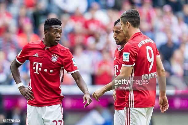 nMuenchen Deutschland Bundesliga 6 Spieltag FC Bayern Muenchen 1 FC Koeln David Alaba Arturo Erasmo Vidal Robert Lewandowski