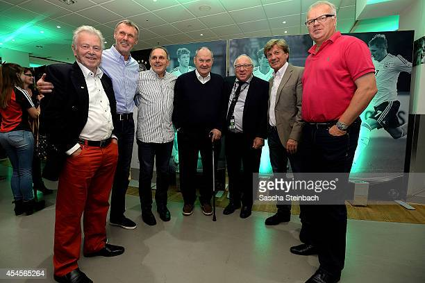 Nn Rudolf Rudi Bommer Wolfgang Seel Matthias Matthes Mauritz Uwe Seeler Frank Mill and Manfred Bockenfeld are seen during the 'Club Of Former...