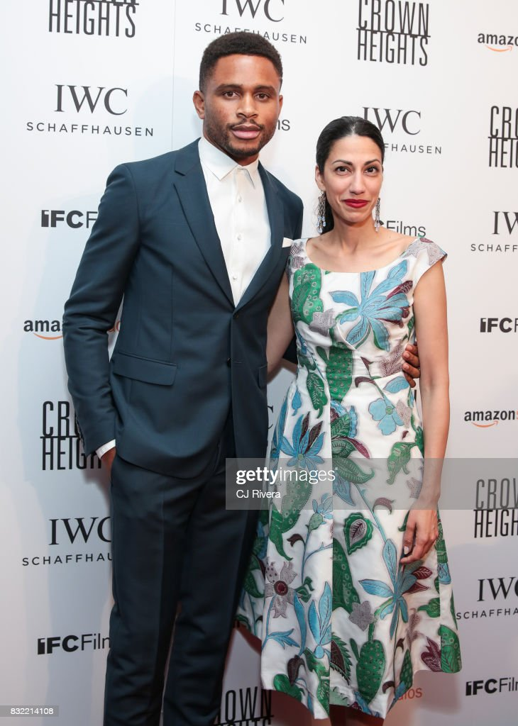 Nnamdi Asomugha and Huma Abedin attend the New York premiere of 'Crown Heights' at The Metrograph on August 15, 2017 in New York City.