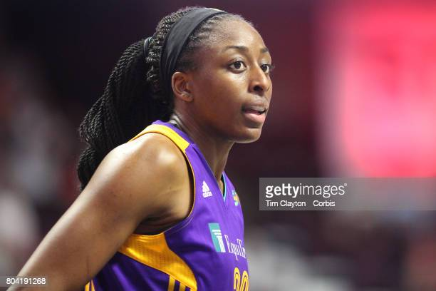 Nneka Ogwumike of the Los Angeles Sparks during the Los Angeles Sparks Vs Connecticut Sun WNBA regular season game at Mohegan Sun Arena on June 27...