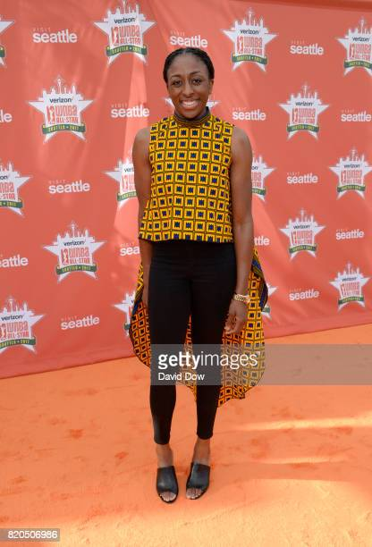Nneka Ogwumike of the Los Angeles Sparks poses for a photo during the WNBA AllStar Welcome Reception Presented by Visit Seattle as part of the 2017...