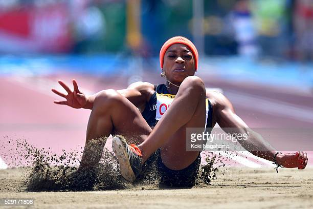 Nneka Okpala of New Zealand competes in the Women's Triple Jump during the SEIKO Golden Grand Prix 2016 at Todoroki Stadium on May 8, 2016 in...