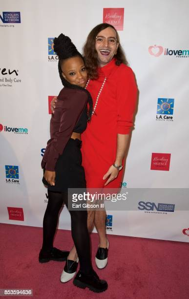 Nneka Onuorah and Jacob Tobia attend Breaking The Silence Awards on September 24 2017 in Santa Monica California