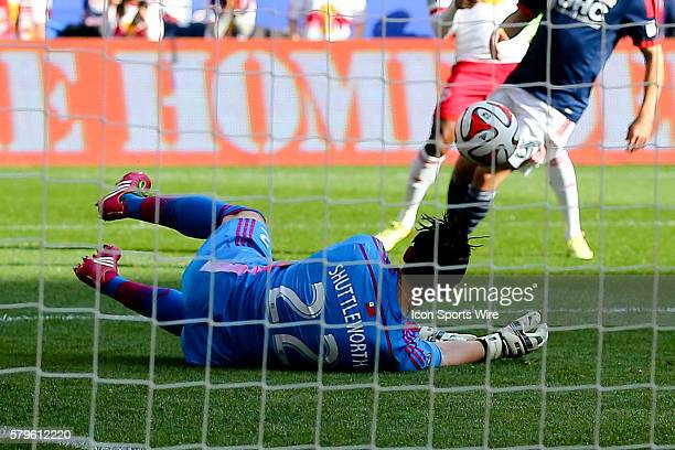 NNew England Revolution goalkeeper Bobby Shuttleworth makes a save during the first half of the MLS Eastern Conference Final between the New York Red...