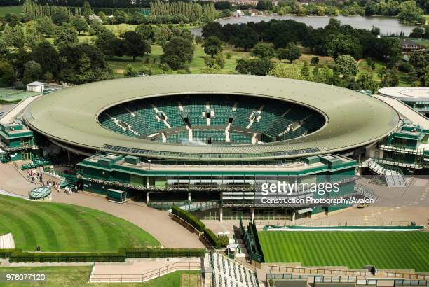No 1 Court All England Lawn Tennis Club Wimbledon London UK elevated view