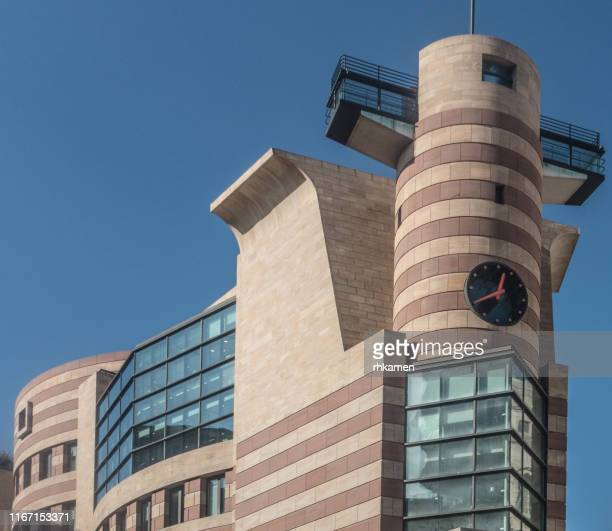 no 1 poultry. corner office building, poultry and  queen victoria street,  city of london, london, england, uk. - queen victoria stock pictures, royalty-free photos & images