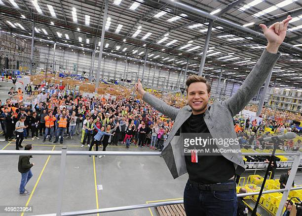 No 1 selling artist Olly Murs Performs and meets the workforce at Amazon's Fulfilment Centre in Hemel Hempstead as part of Black Friday Deals Week on...