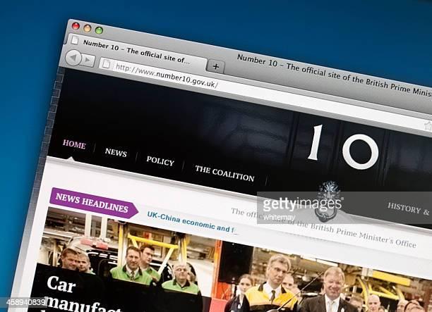 No 10 Downing Street website