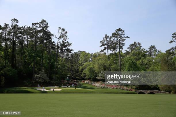 No 12 at Amen Corner is shown during the first round of the Masters at Augusta National on Thursday April 9 2015