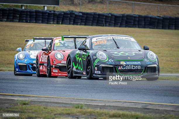 No 360 ProAm combination of Frazer Ross and David Ryan during the Carrera Cups Rennsport ProAm on final day of the 34 lap contest of the Porsche...