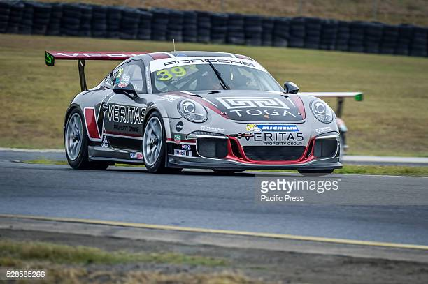 No 39 ProAm combination of Adrian Mastronardo and Tim Slade during the Carrera Cups Rennsport ProAm on final day of the 34 lap contest of the Porsche...