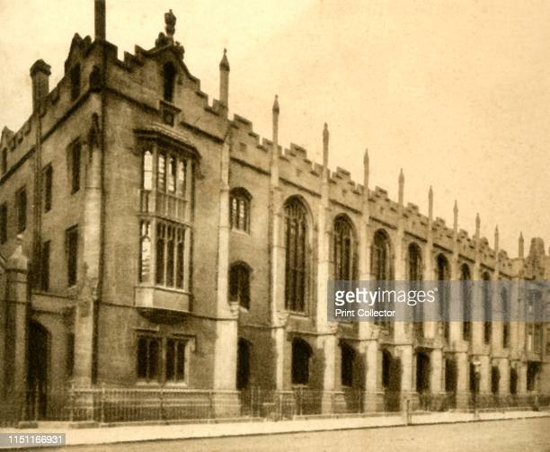 No 61 King Edward's School Birmingham 1923 Gothic architectural facade of New Street site designed by Charles Barry from 1835 King Edward's School...