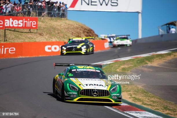 No 8 Scott Taylor Motorsport Mercedes AMG GT3 driven by Max Twigg / Craig Baird / Antonio Dalberto through the esses at The LiquiMoly Bathurst 12...